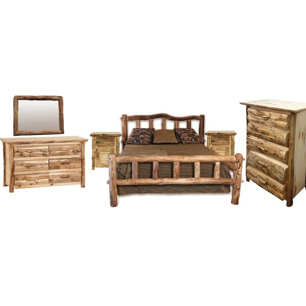Rustic Arts® Platform 4 Piece Bedroom Set by Mountain Woods Furniture