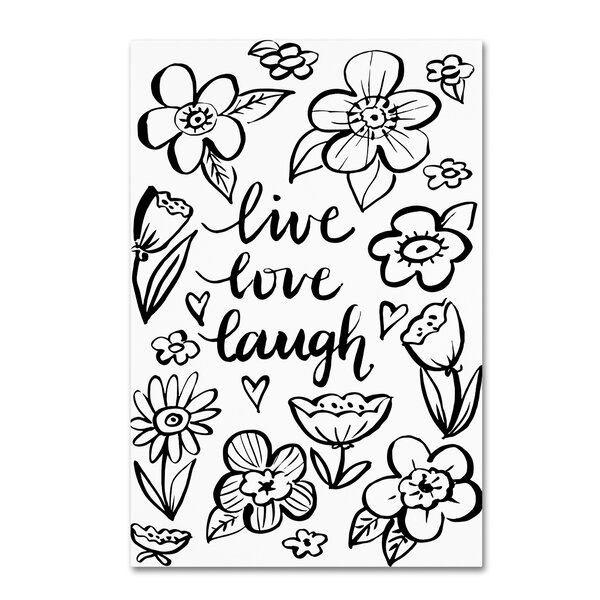 Trademark Art Live Love Laugh Graphic Art Print On Wrapped