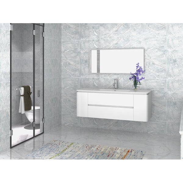 Kleinschmidt 55 Single Bathroom Vanity with Mirror by Orren Ellis