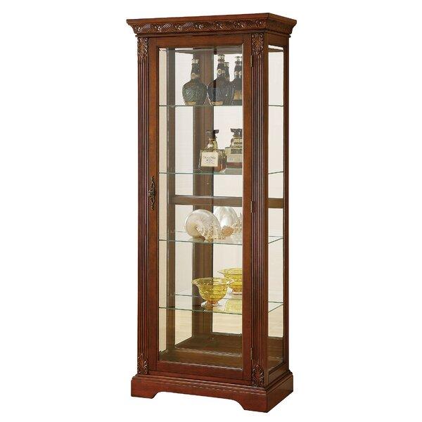 Emelle Lighted Curio Cabinet by Astoria Grand Astoria Grand