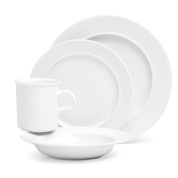 Cafe Blanc 4 Piece Place Setting, Service for 1 by Dansk