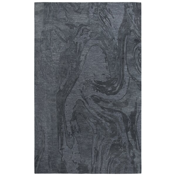 Phan Hand Tufted Wool Dark Gray Area Rug by Red Barrel Studio