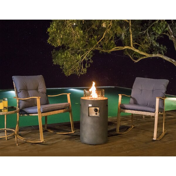 Aylin Propane 4 Piece Rattan Seating Group with Cushions by Rosecliff Heights