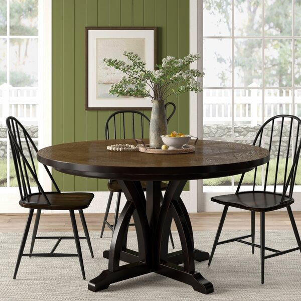 Tenley Round Solid Wood Dining Table by Gracie Oaks Gracie Oaks
