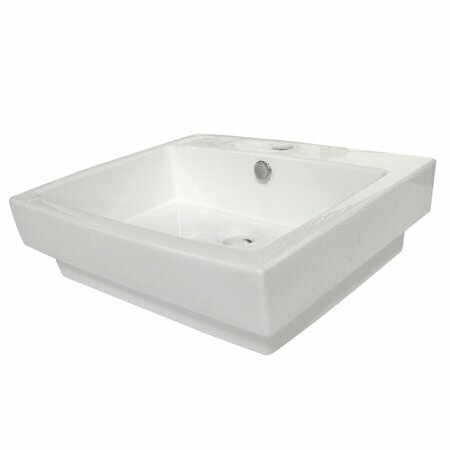 Plaza Ceramic 24 Drop In Bathroom Sink with Overflow by Elements of Design