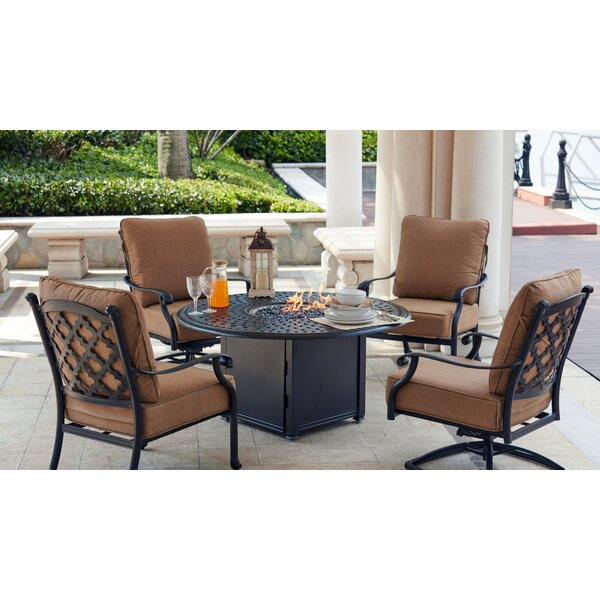 Waconia 5 Piece Conversation Set with Cushions by Darby Home Co