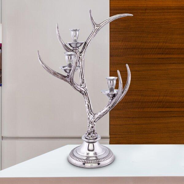 Antler Stag Metal Candelabra by Arthur Court Designs