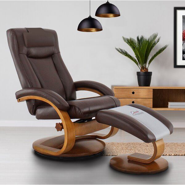 Home Décor Hanover Manual Swivel Recliner With Ottoman