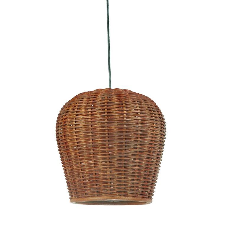 Handwoven 1-Light Bell Pendant