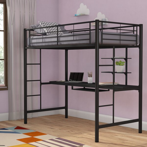 Joplin Twin Bed with Desk and Bookcase by Mack & Milo