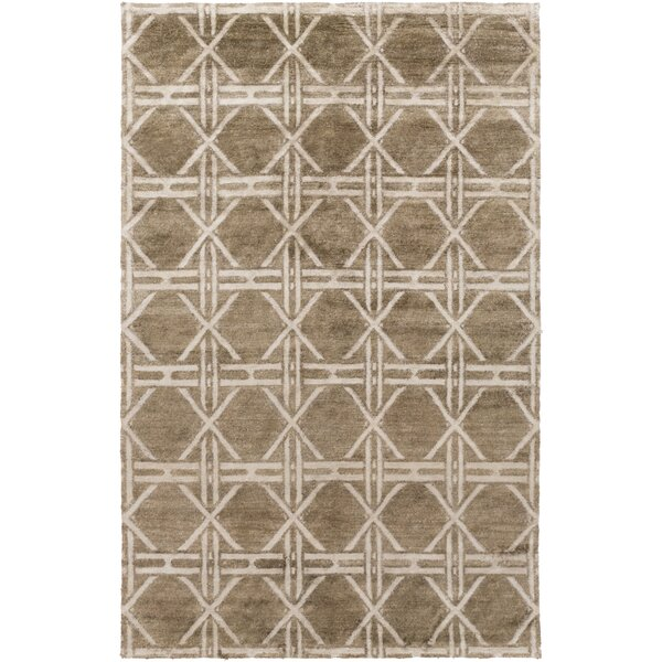 Terrance Olive Geometric Area Rug by Corrigan Studio
