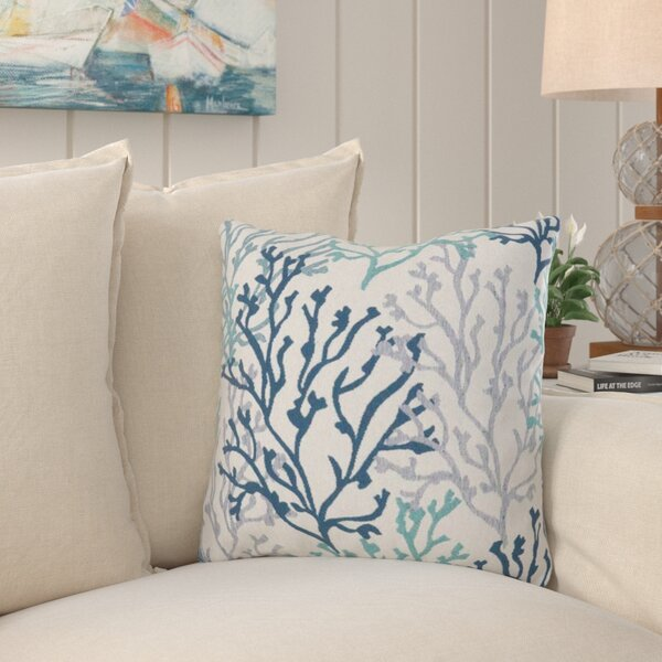 Benat Coral Isle Throw Pillow by Highland Dunes  @ $52.99