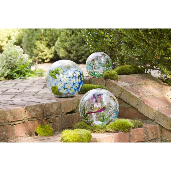 Crackle-Glass Balls 3 Piece Gazing Globe by Wind & Weather