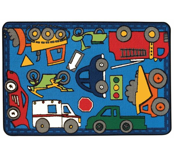 Wheels on the Go Kids Rug by Kids Value Rugs