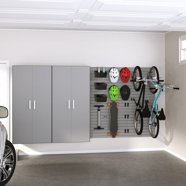 Jumbo Locker and Bike 72 H x 96 W x 20 D Storage Cabinet Set by Flow Wall
