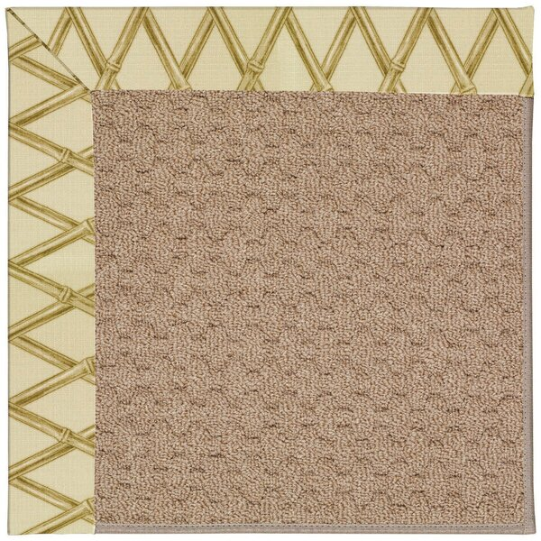 Lisle Machine Tufted Bamboo and Beige Indoor/Outdoor Area Rug by Longshore Tides
