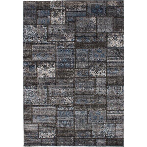 Peralez Dark Gray Area Rug by Bungalow Rose