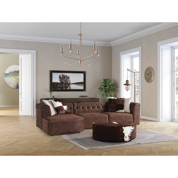 Gish Relax 130 Left Hand Facing Sectional with Ottoman
