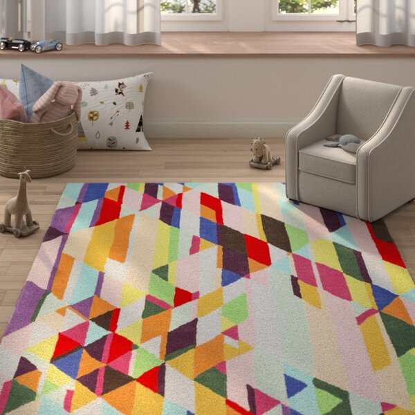 Aero Hand-Tufted Wool Geometric Area Rug by Harriet Bee