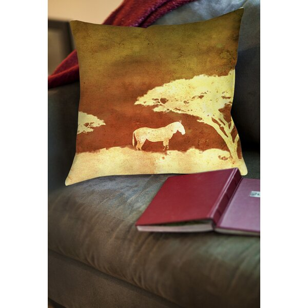 Safari Sunrise 3 Printed Throw Pillow by Manual Woodworkers & Weavers