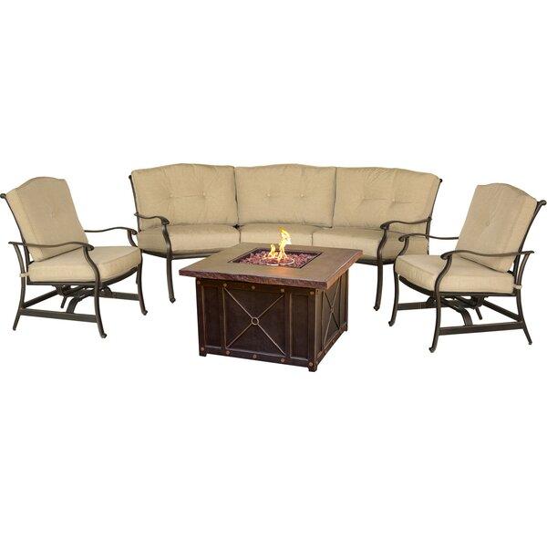 Carleton 4 Piece Sofa Set with Cushions by Fleur De Lis Living