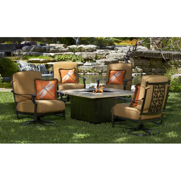 Ibai 5 Piece Multiple Chairs Seating Group with Sunbrella Cushions by Red Barrel Studio
