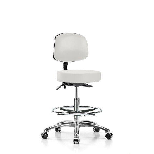 Height Adjustable Doctor Stool with Foot Ring by Perch Chairs & Stools