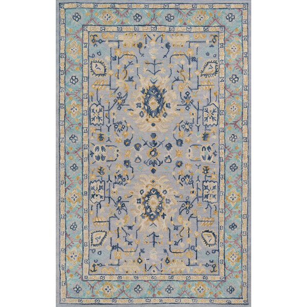 Pearl Hand-Tufted Wool Blue Area Rug by Charlton Home