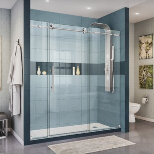 Compare & Buy Enigma-X 72 x 76 Single Sliding Frameless Shower Door with Clearmax™ Technology ByDreamLine