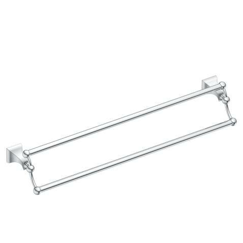 Retreat Double 24 Wall Mounted Towel Bar by Moen