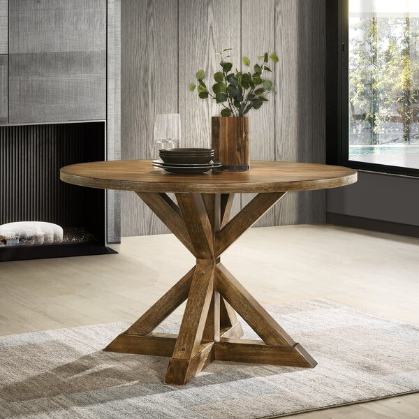 Leonila Cross-Buck Base Dining Table by Gracie Oaks