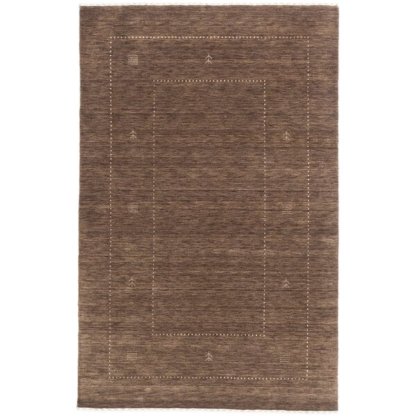Remy Hand-Knotted Brown Area Rug by World Menagerie
