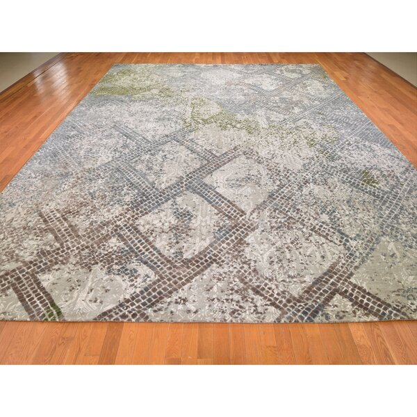 One-of-a-Kind Hand-Knotted Gray 12'3 x 15'3 Area Rug