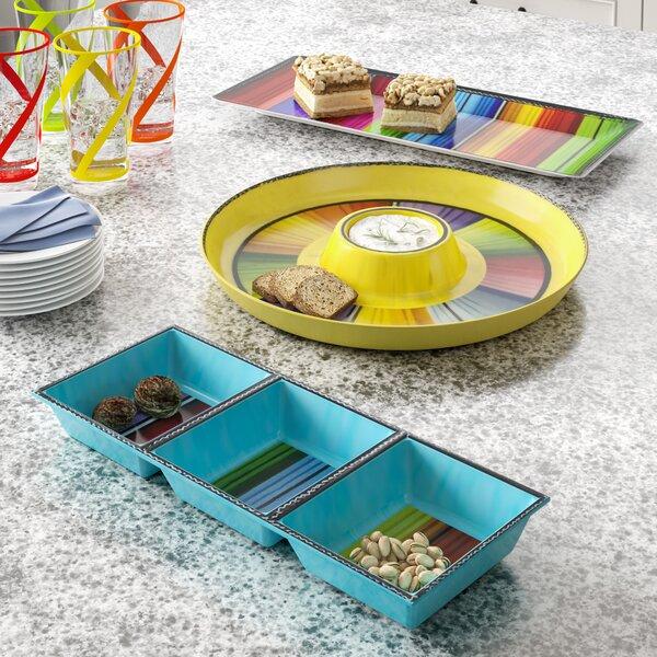 Sands Melamine Divided Serving Dish/Platter/Chip and dip Platter by Latitude Run