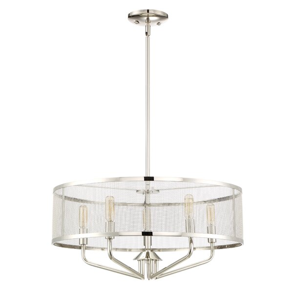 Didymos 5 - Light Candle Style Drum Chandelier By Latitude Run