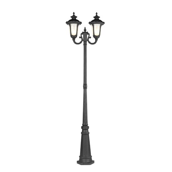 Gunnell Outdoor 2-Light Post Light by Three Posts