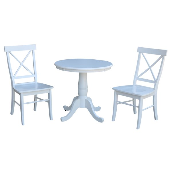 Qunitero 3 Piece Solid Wood Dining Set by August Grove