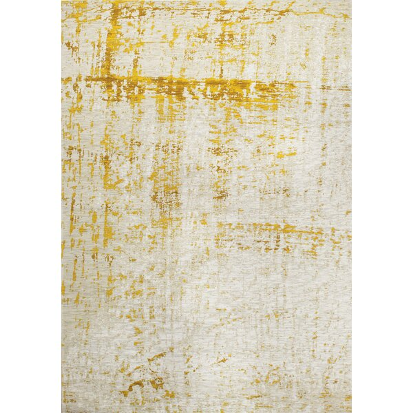 Theresa Shabby Elegance Cream/Yellow Area Rug by Willa Arlo Interiors