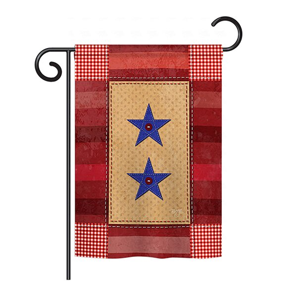 Two-Star Service 2-Sided Vertical Flag by Breeze Decor