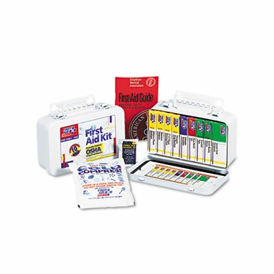 Unitized First Aid Kit for 10 People, 46 Pieces, Osha/Ansi, Plastic Case by First Aid Only™