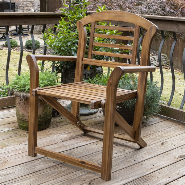 Mathison Outdoor Folding Patio Dining Chair by Rosecliff Heights