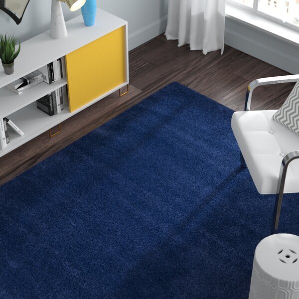 Starr Hill Navy Blue Area Rug by Zipcode Design