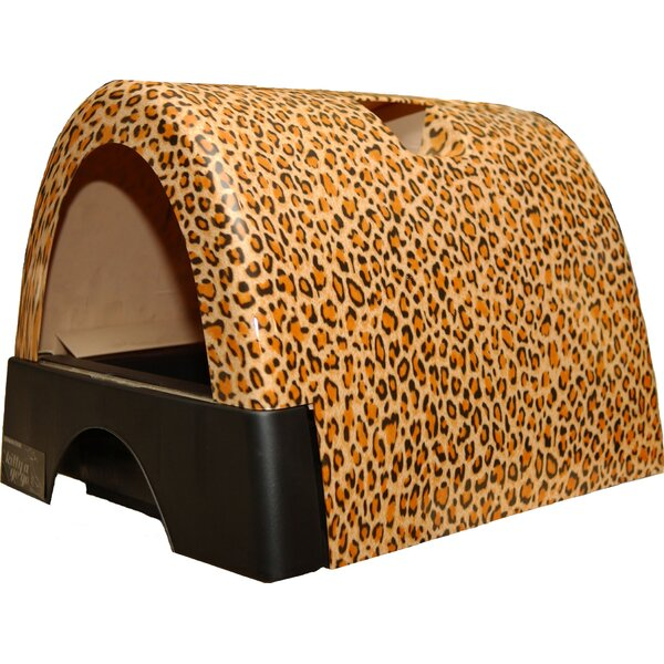 Designer Cat Litter Box with New Leopard Print Cover by Kittyagogo