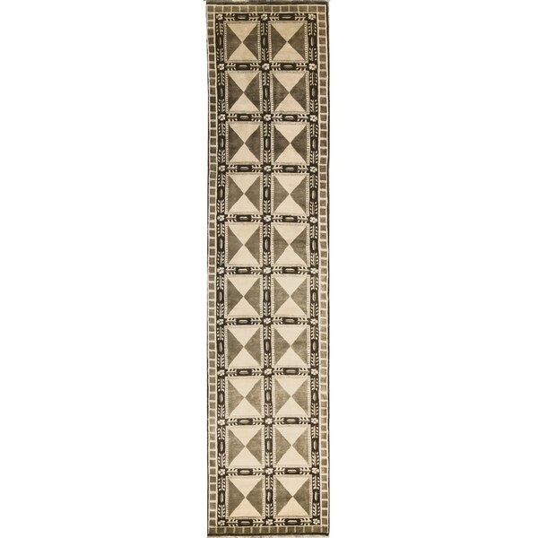 One-of-a-Kind Soofer Hand-Knotted Wool Olive/Brown Indoor Area Rug by Bokara Rug Co., Inc.