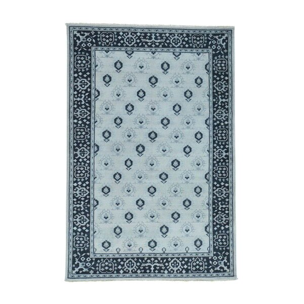 One-of-a-Kind Organ Hand-Knotted Blue Area Rug by One Allium Way