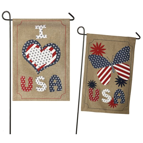 Love USA 2-Sided Garden Flag by Evergreen Enterprises, Inc