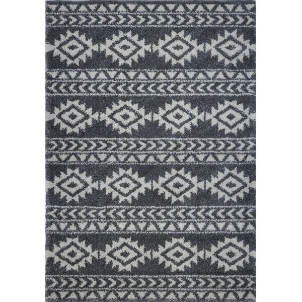 Hiebert Gray/Ivory Area Rug by Bloomsbury Market