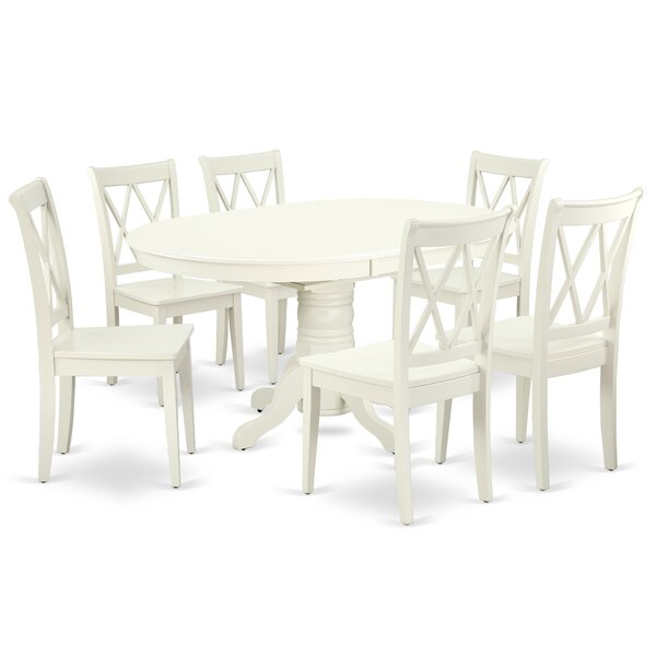 Labarge 7 Piece Extendable Solid Wood Dining Set by August Grove