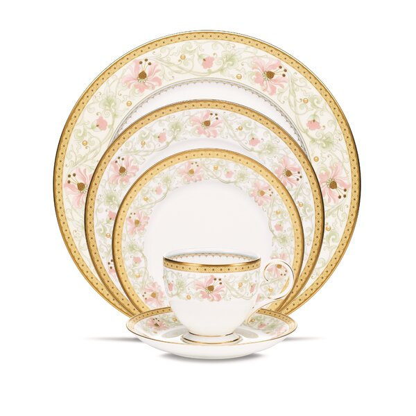 Blooming Splendor Bone China 5 Piece Place Setting, Service for 1 by Noritake