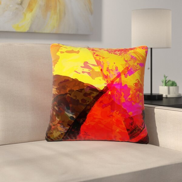 Matthias Hennig Into the Fire Outdoor Throw Pillow by East Urban Home